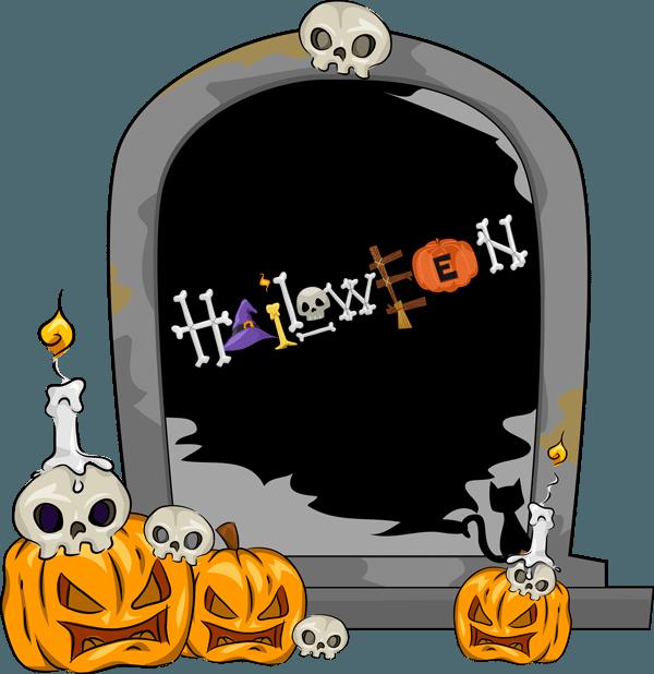 600x618 Halloween Gravestones Clipart