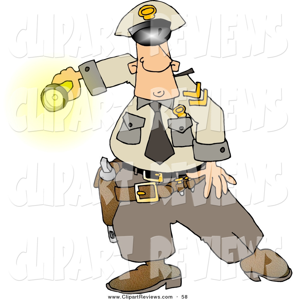 1024x1044 Clip Art Of A Curious White Graveyard Shift Police Officer