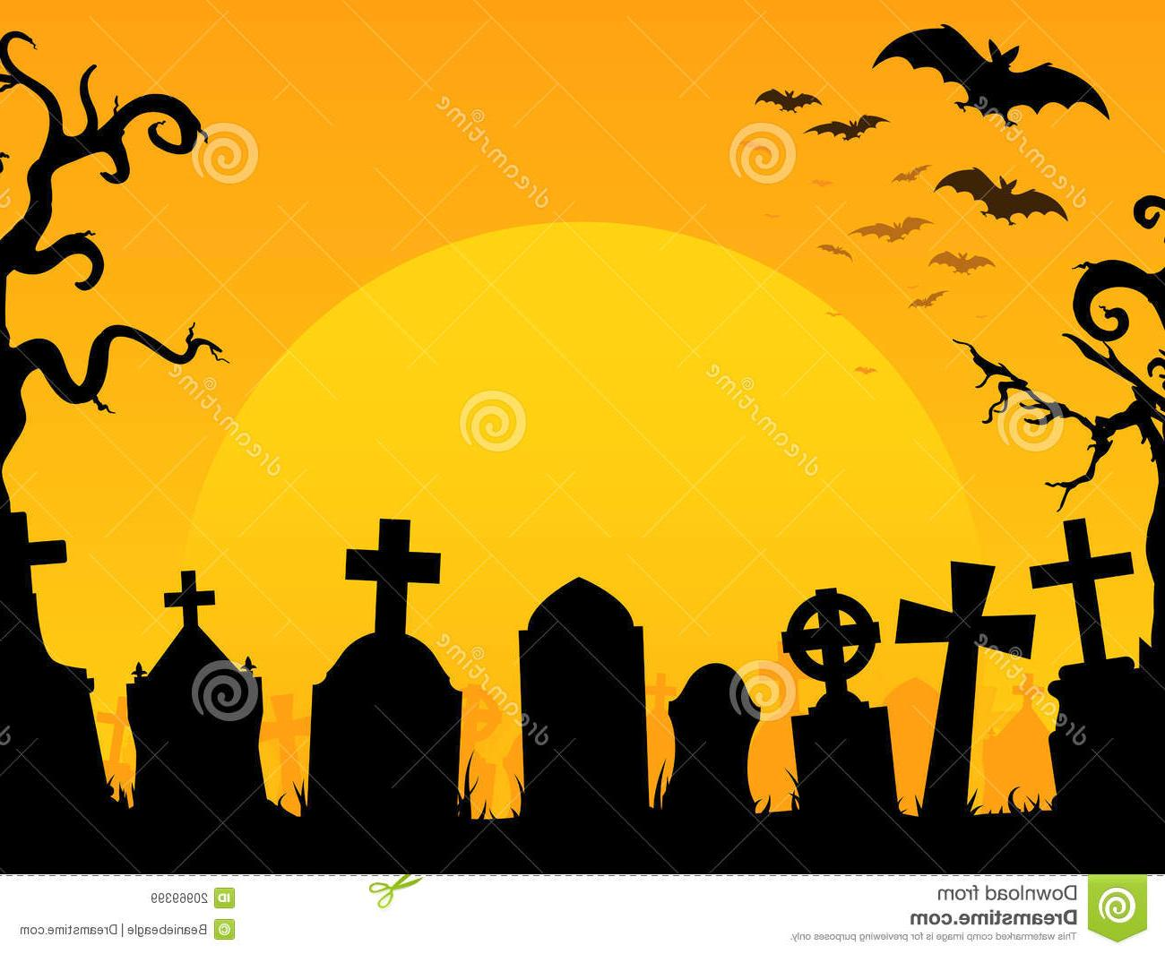 1300x1065 Hd Halloween Graveyard Clip Art Library Vector Graphic Images