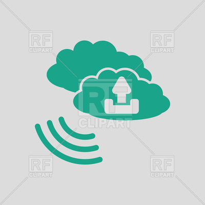 400x400 Cloud Connection Icon On Gray Background Royalty Free Vector Clip