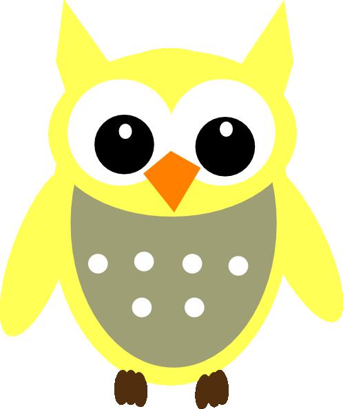 498x595 Yellow Gray Owl Clip Art