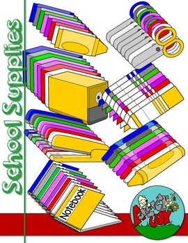 270x350 School Supply Themed Clip Artgraphics