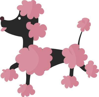 400x392 Luxury Poodle Clip Art Pink