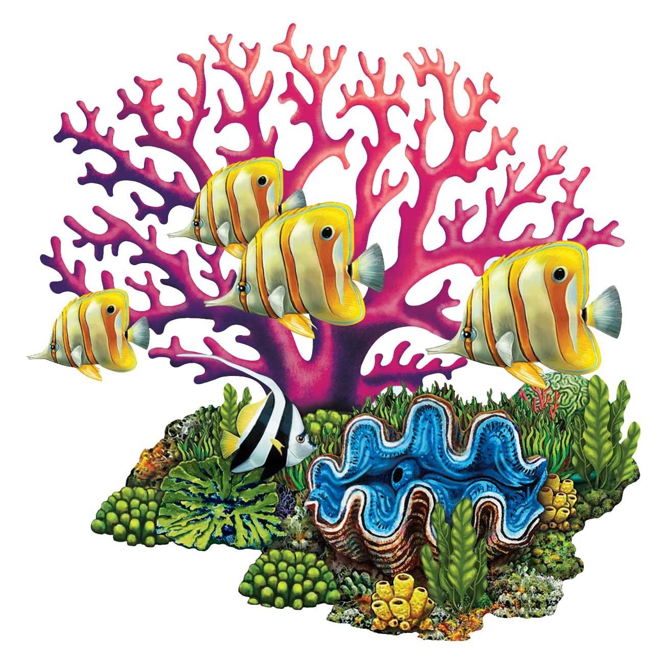 1308x1292 Coral Reef Porcelain Pool Mosaic By Custom Mosaics, Inc. Porc