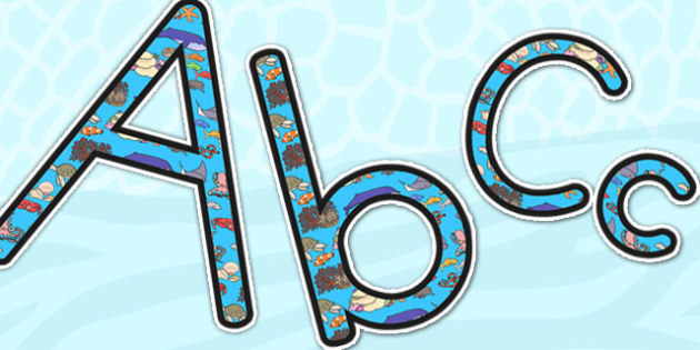630x315 Great Barrier Reef Display Lettering