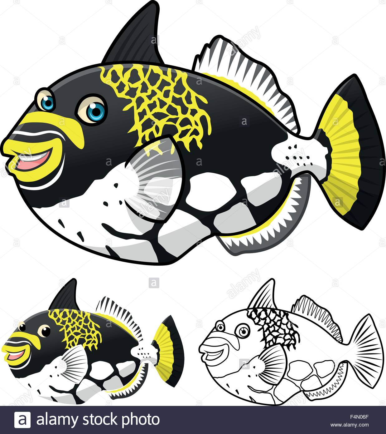 1238x1390 Great Barrier Reef Fish Stock Vector Images