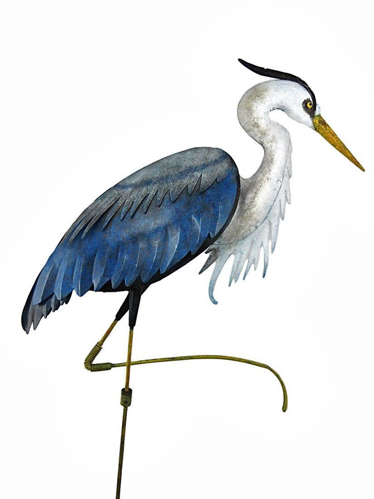 736x981 Great Blue Heron Clipart Art Deco
