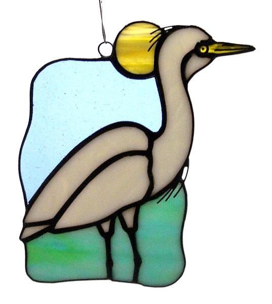 537x600 Great White Egret Suncatcher