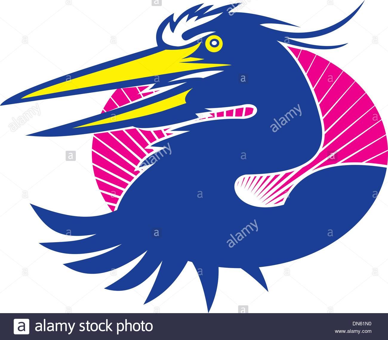 1300x1139 Heron Crane Bird Stock Vector Images