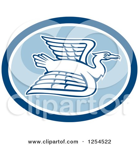 450x470 Clipart Of Great Blue Heron Bird On Branch In Circle