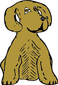 204x300 Dog Front View Clip Art Free Vector 4vector