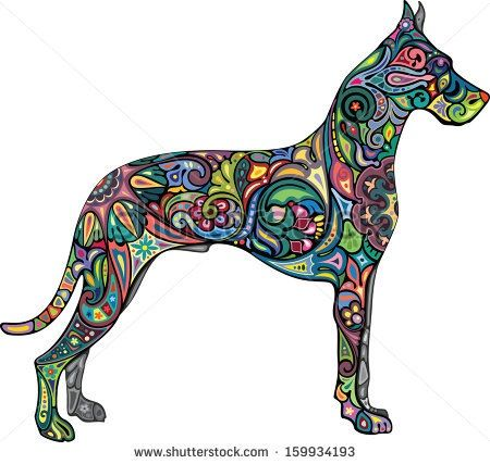 450x427 Great Dane Tattoo Tattoo Ideas Tattoo, Tatting