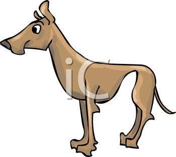 350x312 Picture Of A Brown Great Dane In A Vector Clip Art Illustration
