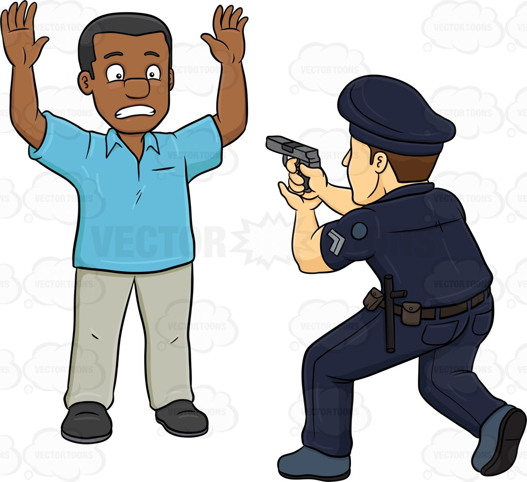 1024x938 A Policeman Telling A Black Man To Freeze At The Great Wall