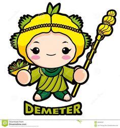 236x252 Demeter Goddess Art Nouveau Clipart Collection