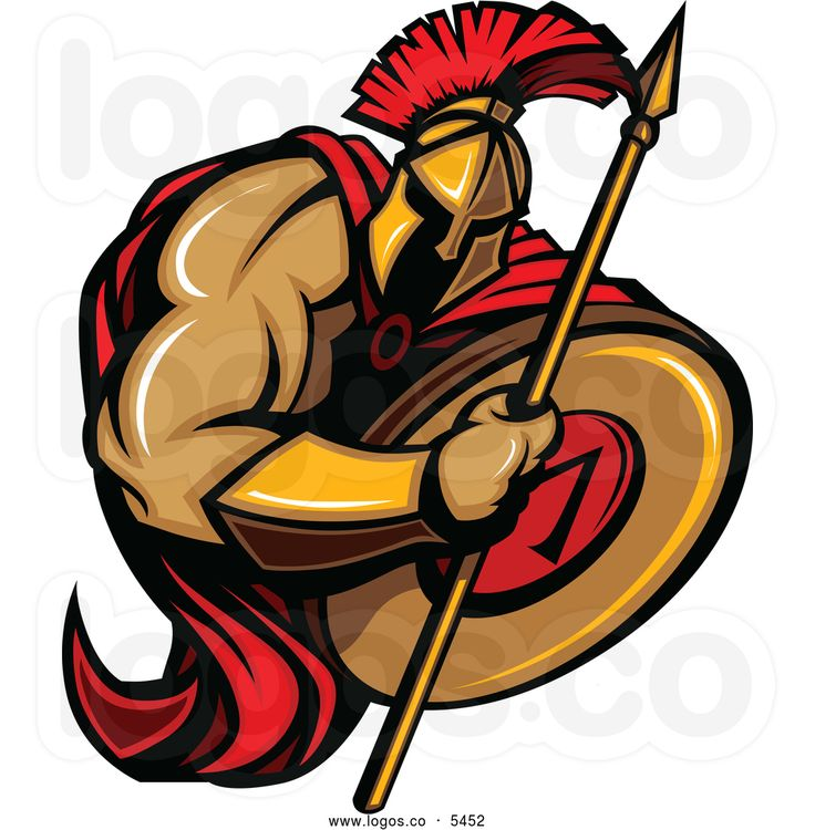 Greek Warrior Clipart