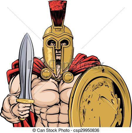 450x455 Spartan. A Gladiator, Ancient Greek, Trojan Or Roman Warrior