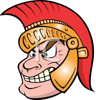 338x350 Cartoon Of A Greek Trojan Warrior