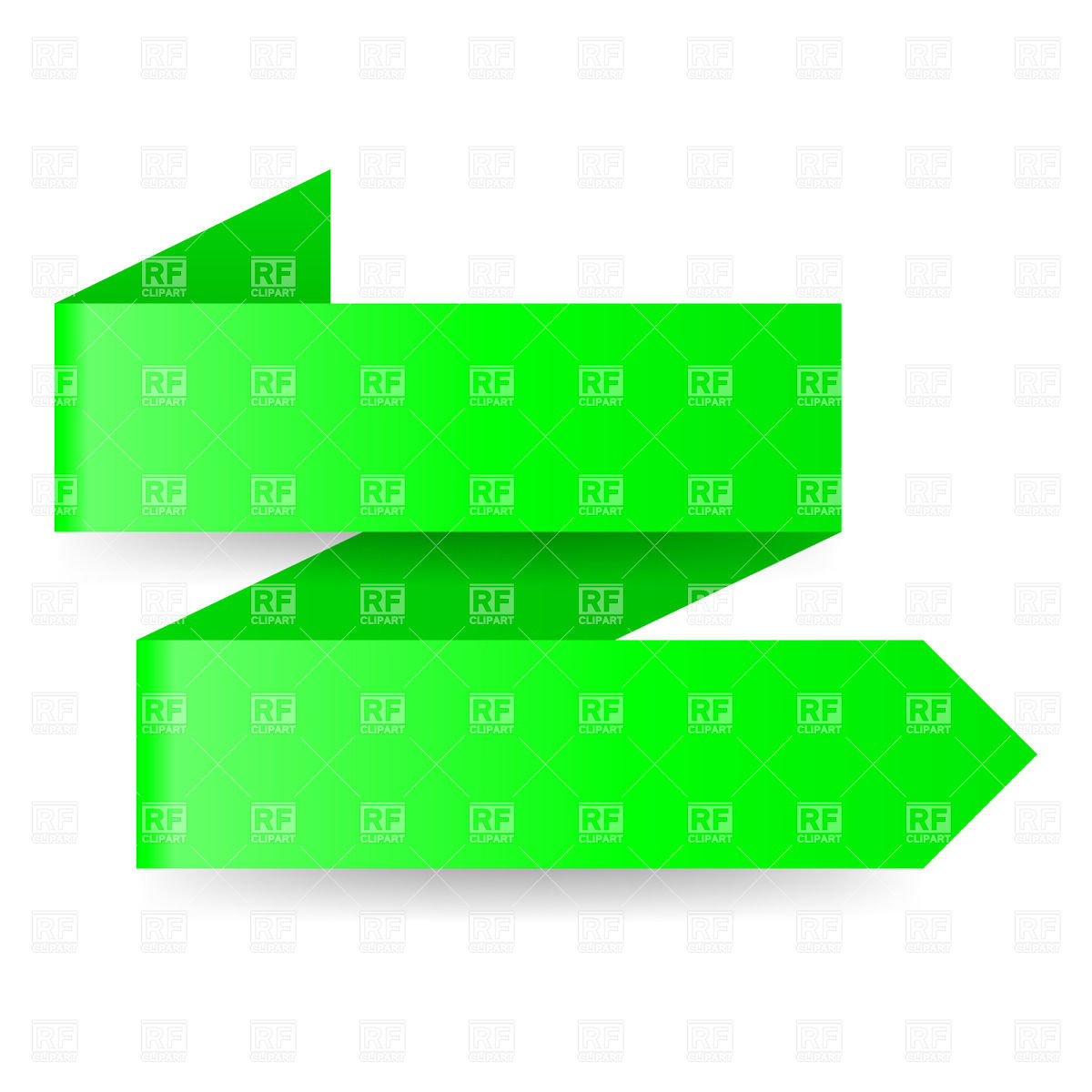 1200x1200 Two Step Green Zigzag Paper Arrow Royalty Free Vector Clip Art