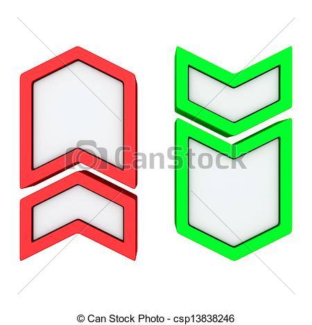 450x470 Up Down Arrows. Red Green Arrows Pointing Up