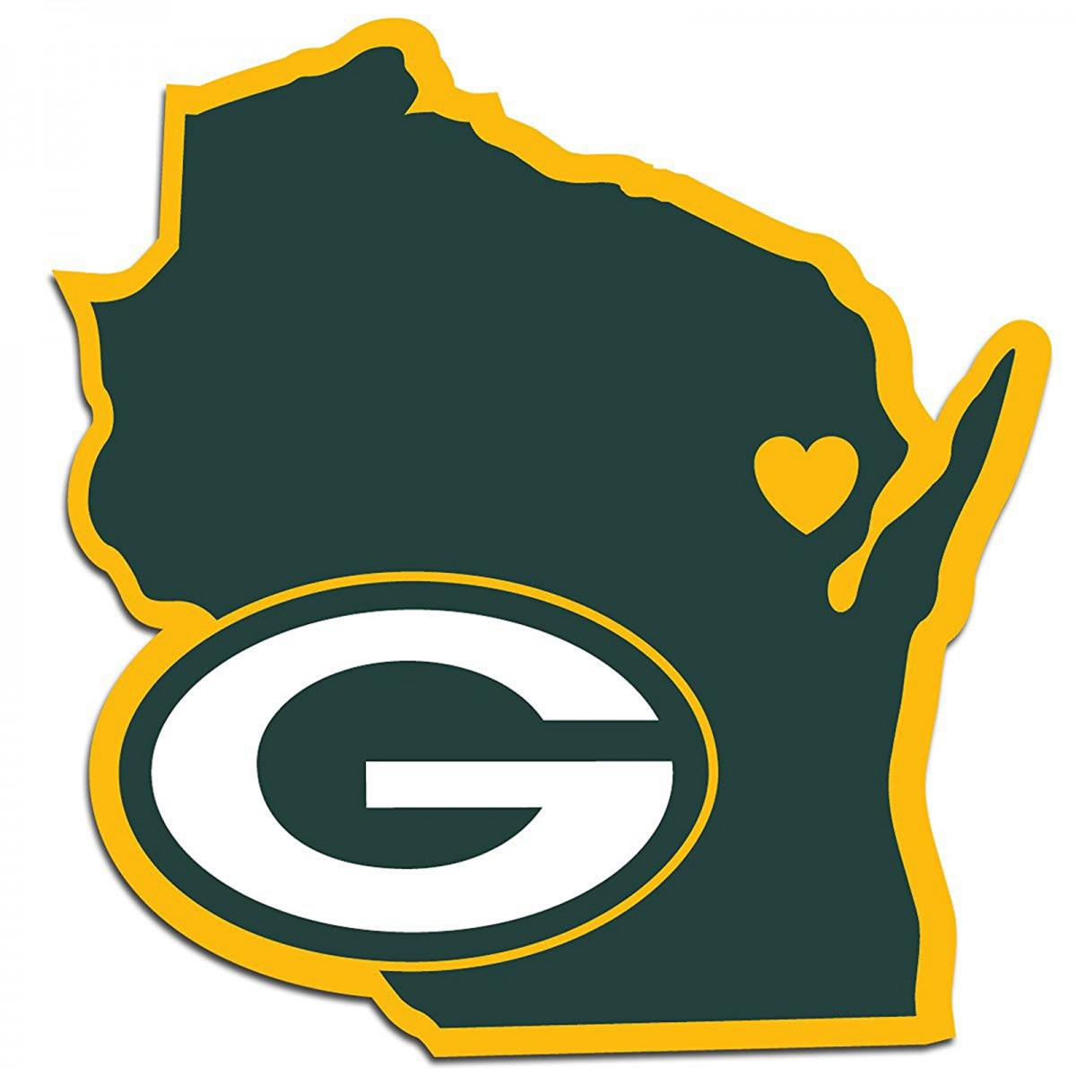 1200x1200 Green Bay Packers Home State Decal