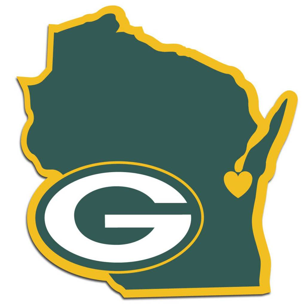 1024x1024 Green Bay Packers Home State Decal