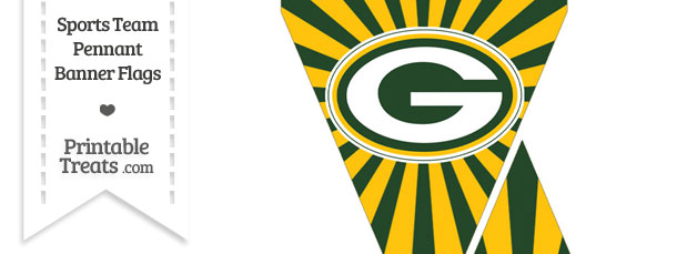 610x229 Green Bay Packers Mini Pennant Banner Flags Printable