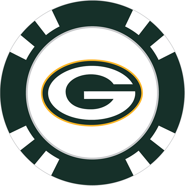 600x602 Green Bay Packers Poker Chip Ball Marker