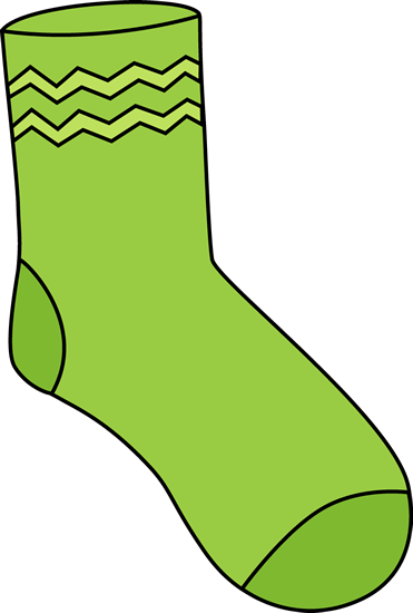 371x550 Green Sock Clip Art