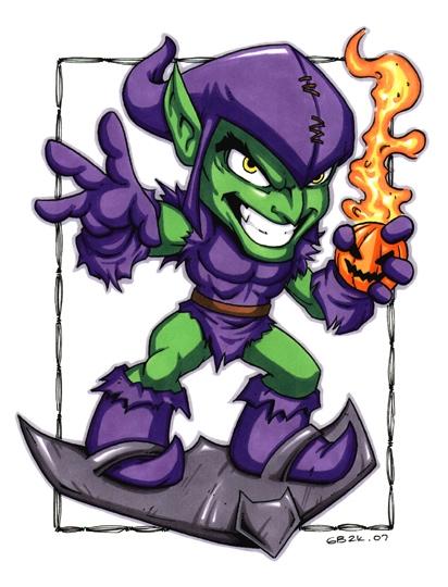 412x540 Green Goblin (Chibis), In Justin Wood's Garrett Blair Comic Art