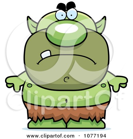 450x470 Royalty Free (Rf) Clip Art Illustration Of A Green Goblin By Cory