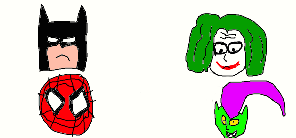 1006x472 Batman, Spider Man, Joker And Green Goblin (Remake By
