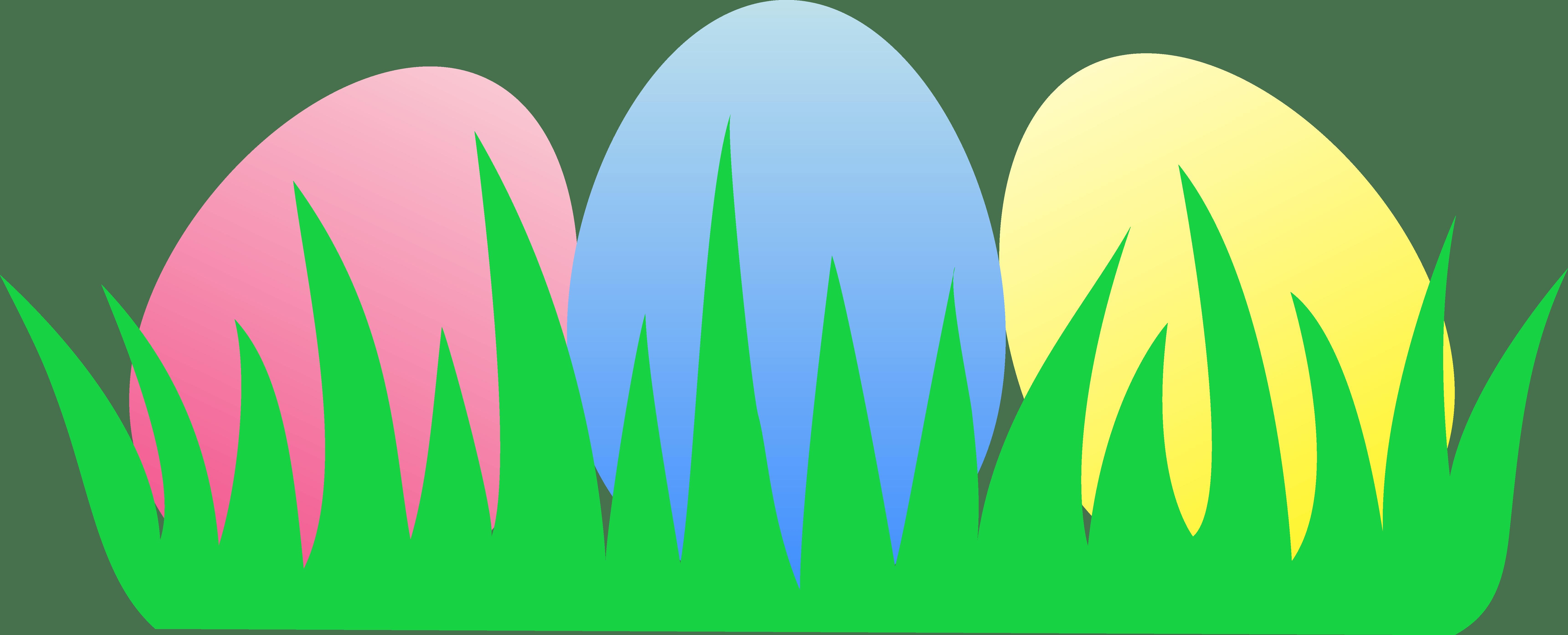 6883x2789 Easter Eggs In Grass Clip Art. Stift Cliparts, Clipart