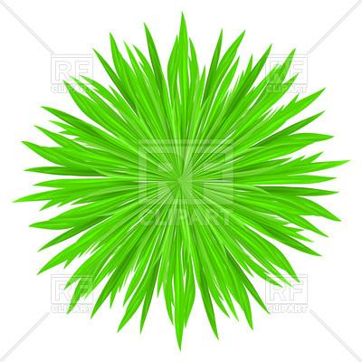 400x400 Grass Green Prickly Ball Royalty Free Vector Clip Art Image