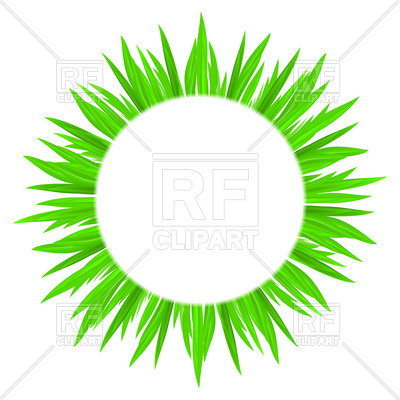 400x400 White Circle With Spring Green Grass Framing Royalty Free Vector