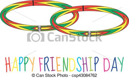 450x273 Greeting Card With A Happy Friendship Day. Greeting Card Clip