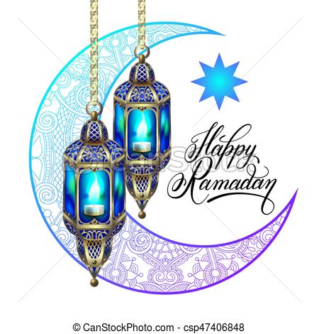 450x470 Happy Ramadan Design For Greeting Card, Poster, Banner With Eps
