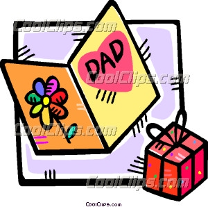 300x298 Fathers Day Card And A Gift Clip Art