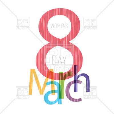 400x400 8 March, Women's Day Greeting Card Design Royalty Free Vector Clip