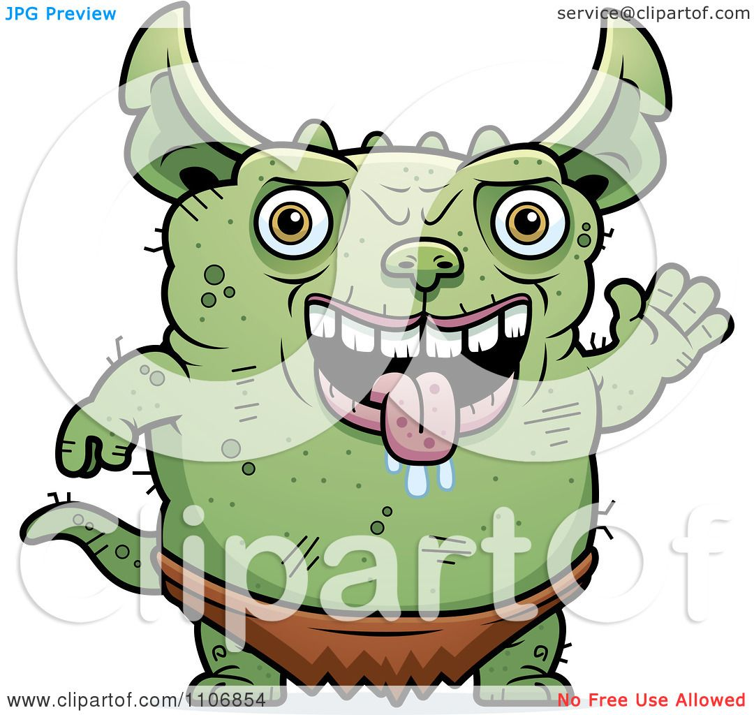 1080x1024 Clipart Waving Pudgy Green Gremlin
