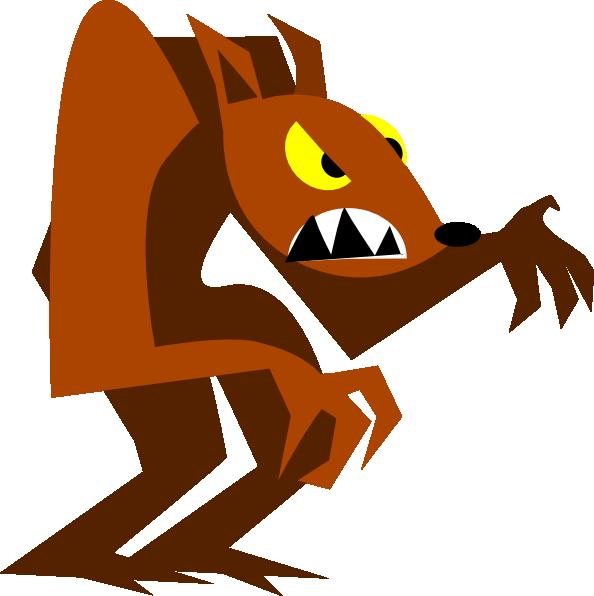 594x596 Cartoon Werewolf Clipart Wolf 2 Image 9390