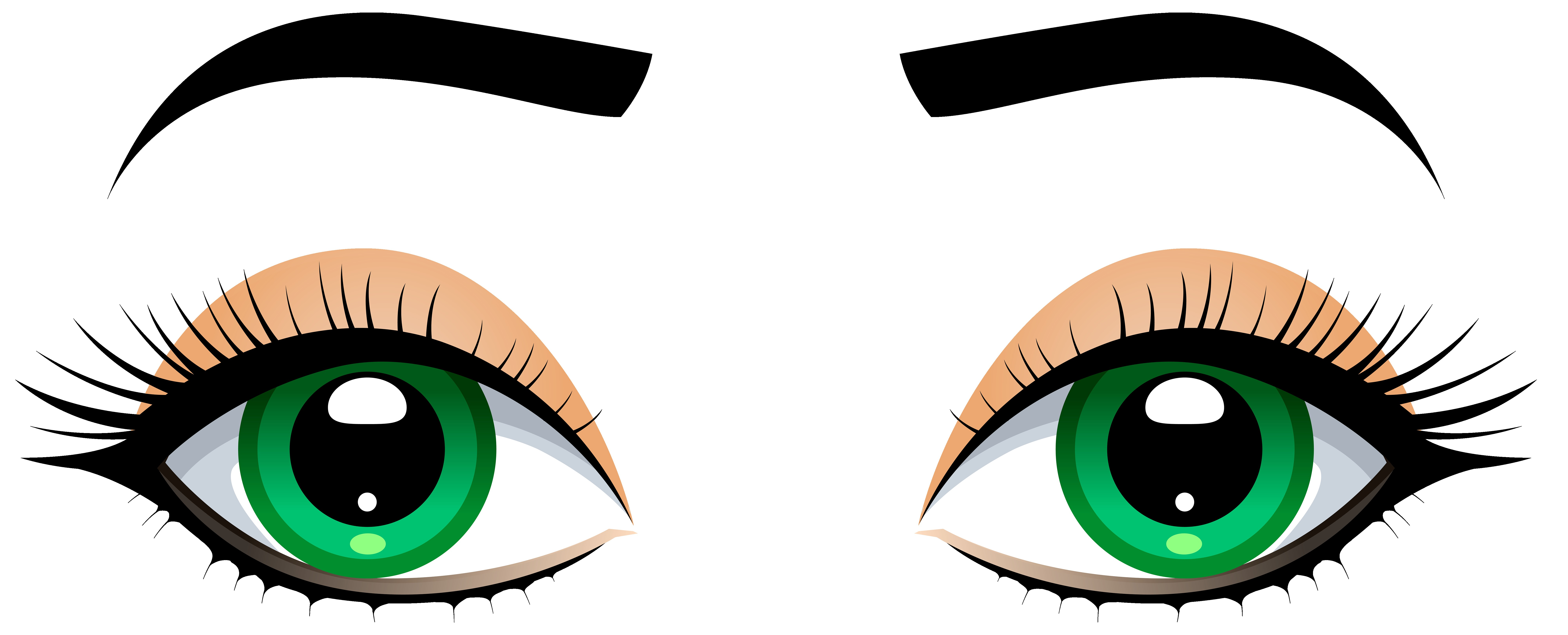 8000x3239 Female Eyes With Eyebrows Png Clip Art Best Web Clipart Fine Eye