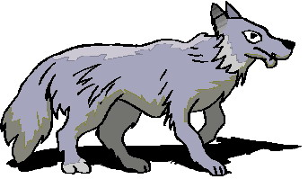 343x199 Free Wolves Clipart