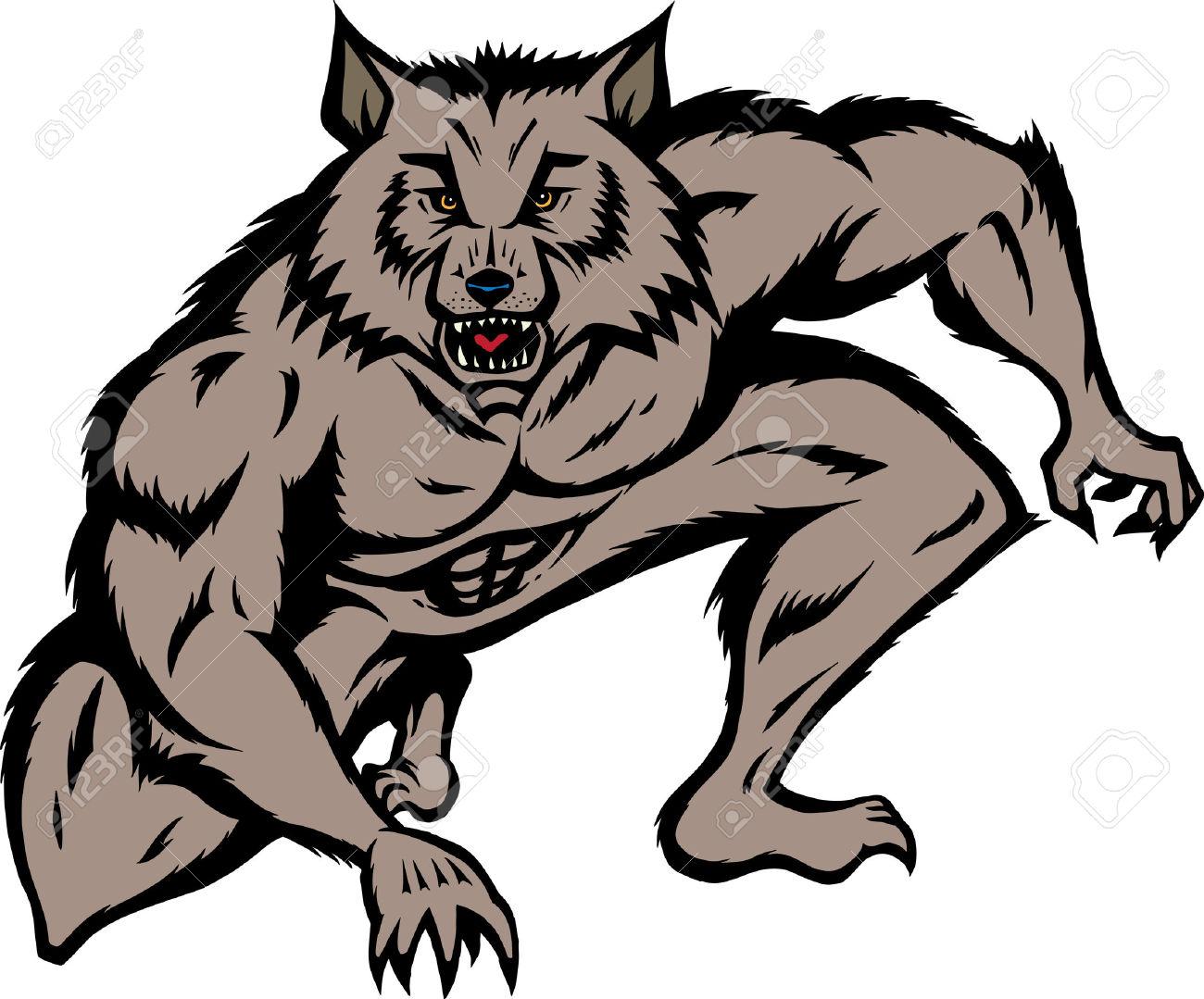1300x1079 Werewolf Clipart