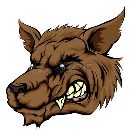 434x450 Werewolf Clipart Wolf Face