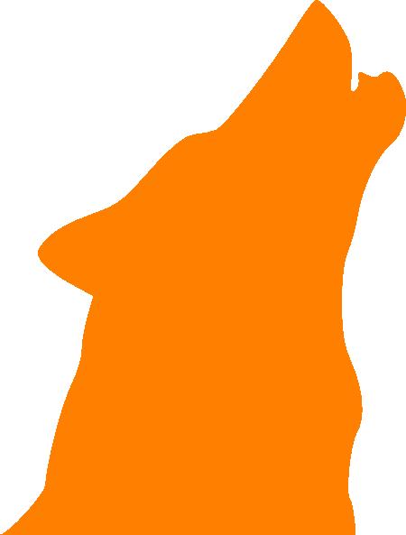 450x593 Wolf Howling Howling Wolf Orange Clip Art
