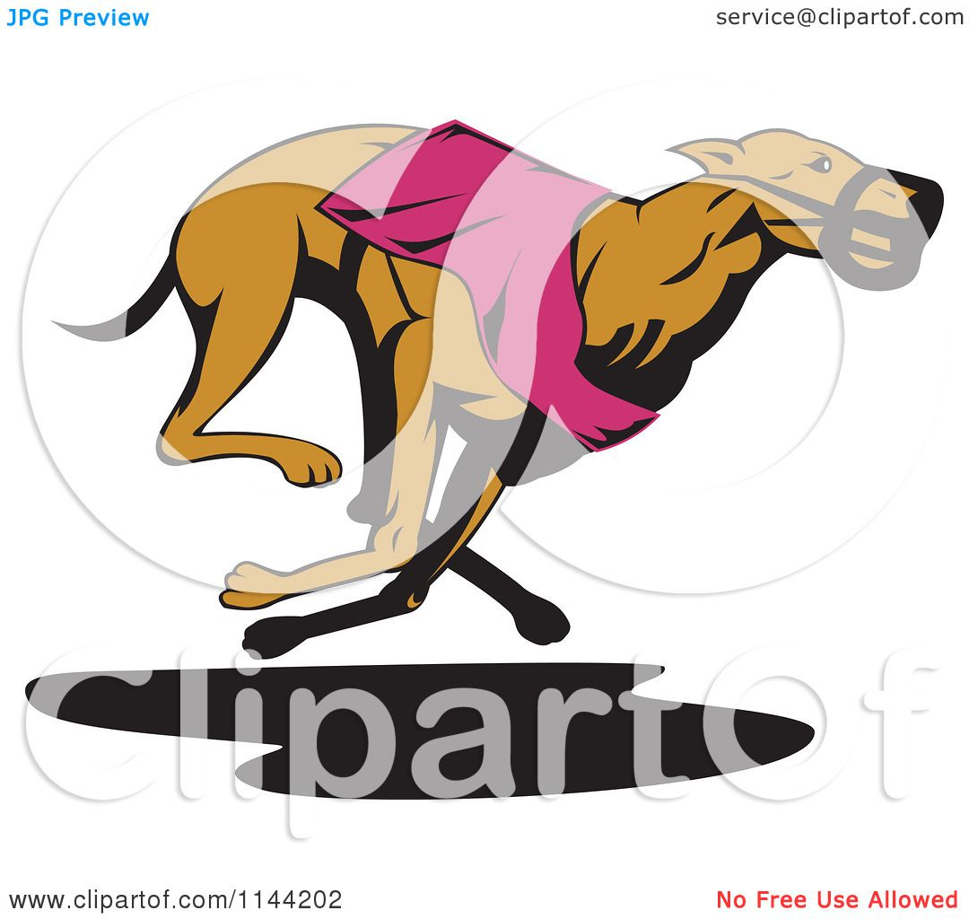 1080x1024 Clipart Of A Retro Running Greyhound Dog 4