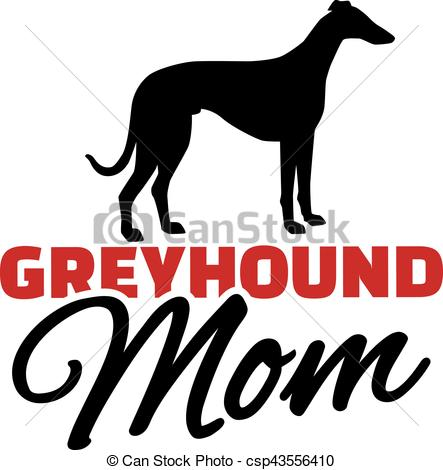 443x470 Greyhound Mom With Dog Silhouette Vector Clip Art
