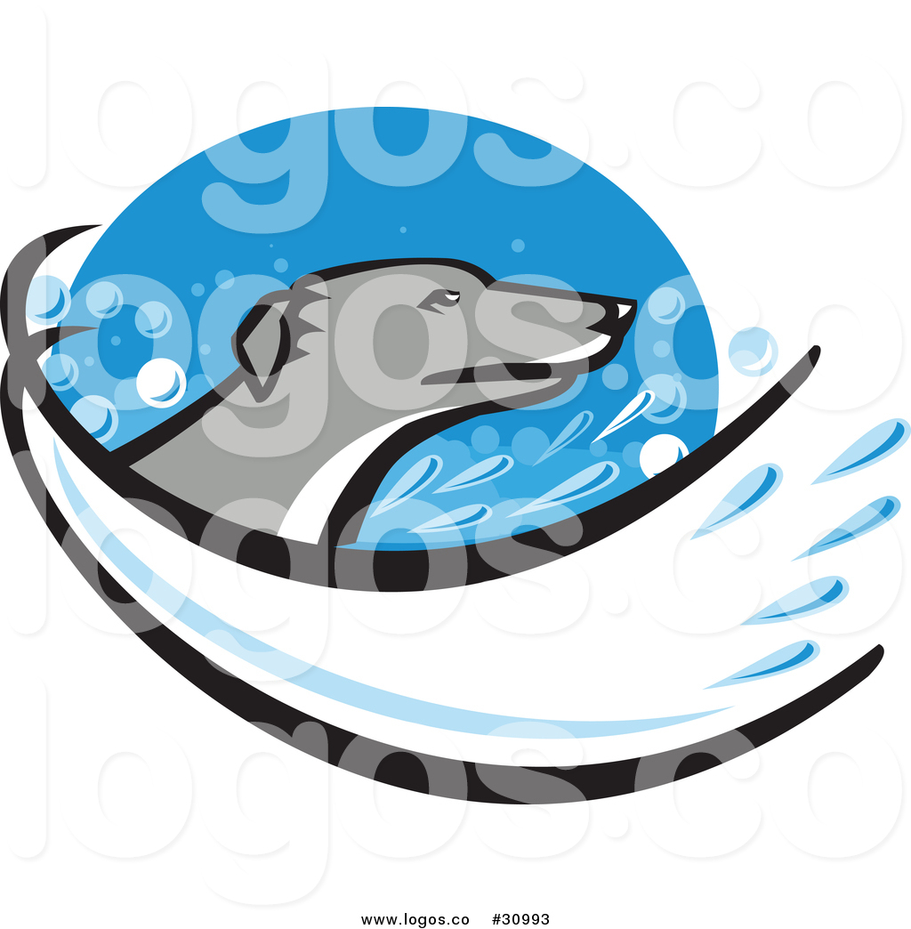 1024x1044 Vector Logo Of A Greyhound Dog In A Splash Of Water Within A Blue