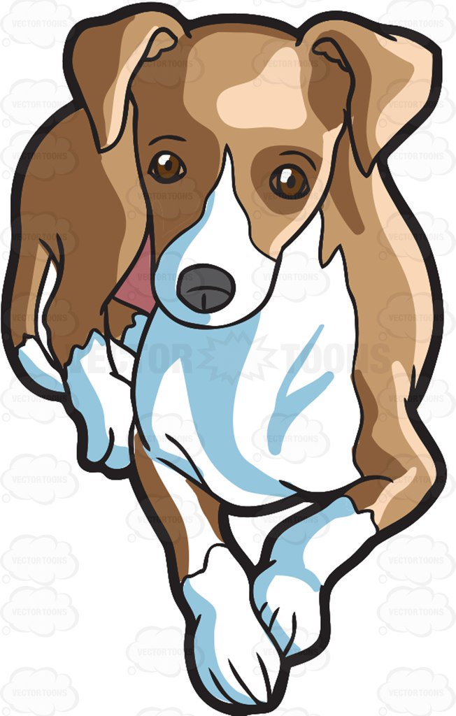 652x1024 A Cute Greyhound Taking A Break Cartoon Clipart Vector Toons